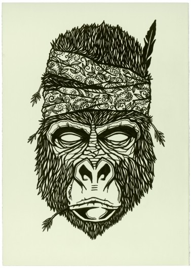 Gorilla Face Line Drawing : The essence of life and line drawings